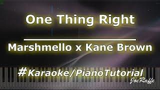 Marshmello X Kane Brown   One Thing Right (KaraokePianoTutorialInstrumental)