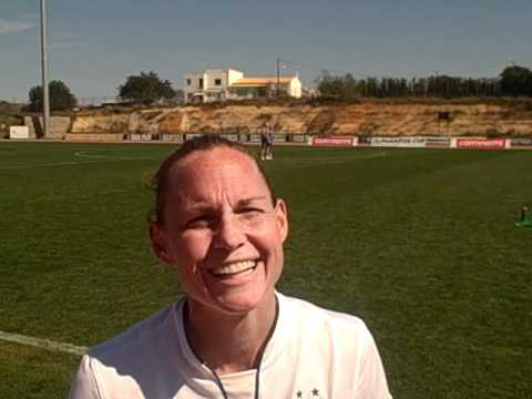 Christie Rampone interview after Algarve Cup
