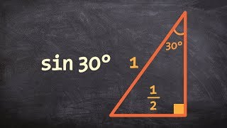 Using Special Right Triangles And Trig To Find The Value Of Sind 30 Degrees