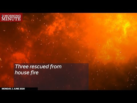 Three rescued from house fire