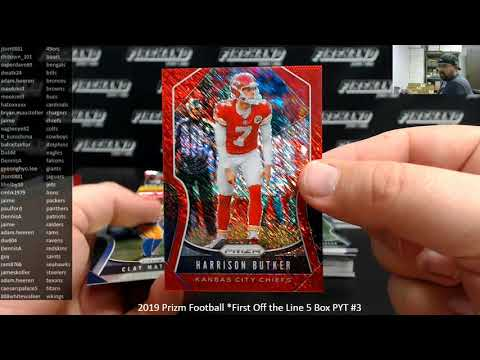 11/11/2019 2019 Prizm Football *First Off the Line 5 Box PYT #3