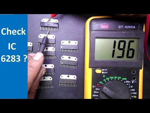 How To Test IC Chips by using Multimeter (IC 6283