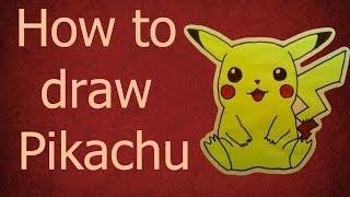 Смотреть онлайн Как нарисовать Пикачу фломастерами