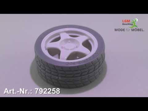 Möbelknopf Reiskirchen, Reifen, Auto, Design, Kinder, Kunststoff - Weiß - Art. Nr.: 792258