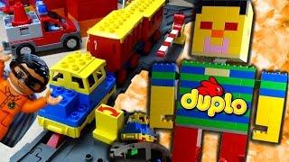 Duplo Village Train toys compilation Lego Duplo Trains in Duplos Vill fun Kids Video stop motion toy