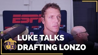 VIDEO Luke Walton reacts to Lakers drafting Lonzo Ball at No 2