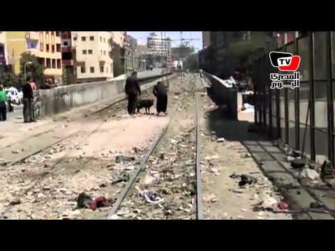 تمشيط خط الترام بعد إنفجار ٣ قنابل بالمطرية