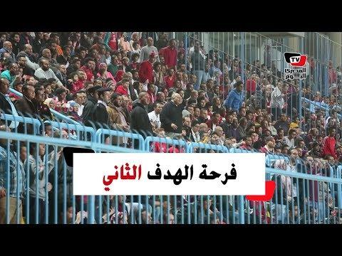 فرحة لاعبي الأهلي وشقيق حسين الشحات عقب الهدف الثاني أمام إنبي