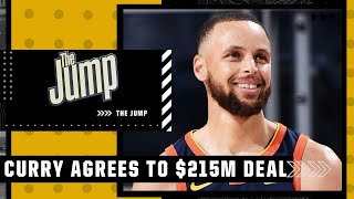 Steph Curry signs $215M extension with Warriors   The Jump