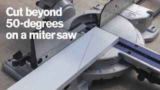 How to Make Acute Cuts With a Miter Saw