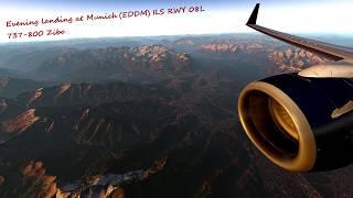 [X-Plane 11] [737 Zibo] Evening Landing