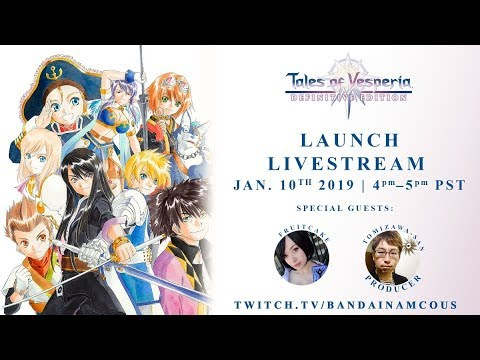 Tales of Vesperia Definitive Edition - Launch Livestream | XB1, PS4, PC, Switch thumbnail