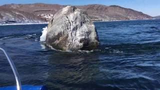 Boat trips on Listvyanka///Shaman stone
