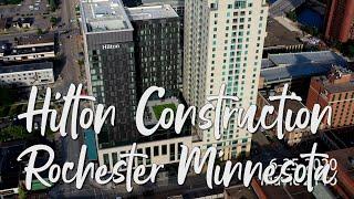 Hilton Construction Downtown Rochester Minnesota with DJI Spark DJI Mavic Air DJI Mavic Pro Platinum