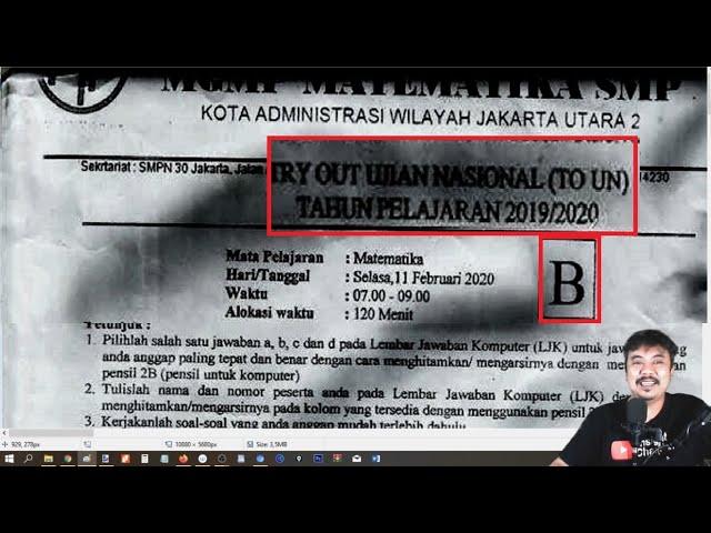 prediksi UNBK SMP 2020 ,try out UCUN JAKARTA UTARA SMP TAHAP 1 PAKET B
