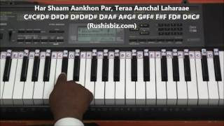 Pal Pal Dil Ke Paas (Piano Tutorials) - black mail movie | DOWNLOAD NOTES FROM DESCRIPTION