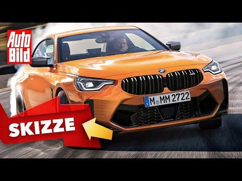 BMW M2 (2022) |Bis zu 490 PS im neuen BMW M2 |Skizze