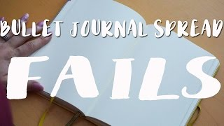 Bullet Journal Spread FAILS | My Bullet Journal Mistakes!