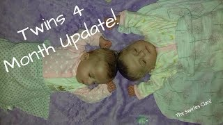 Twin Girls 4 Month Update! The Swirles Clan