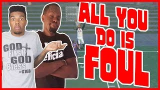 ALL YOU DO IS FOUL!!  - NBA 2K16 Head to Head Blacktop Gameplay