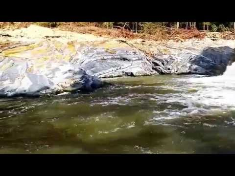 New water fall on my river after the flood.