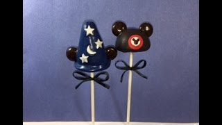 How to make Mickey Mouse Hat Cake Pops
