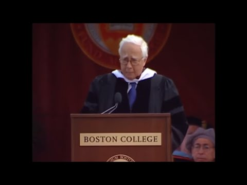Boston College Commencement Address