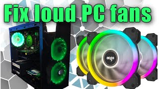 How to Fix loud PC fans on your gaming build and get better PC temperatures (quiet fans)