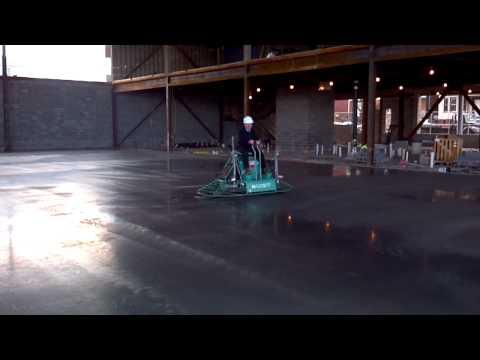 Ian finishing a floor in Newark