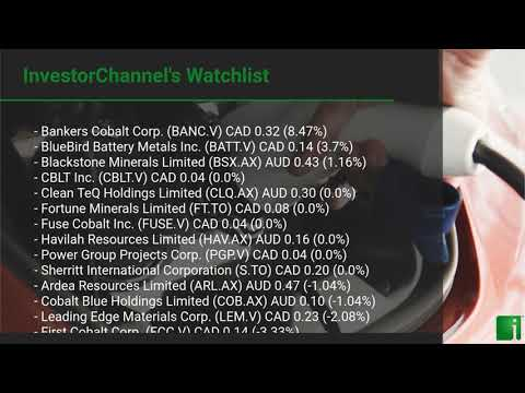 InvestorChannel's Cobalt Watchlist Update for Monday, September 21, 2020, 16:30 EST