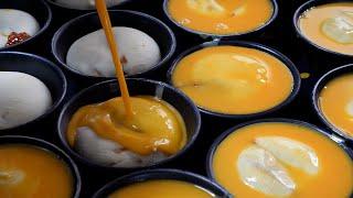spicy pork cheese egg bread – jjamppong bread / 강릉 짬뽕빵 / korean street food