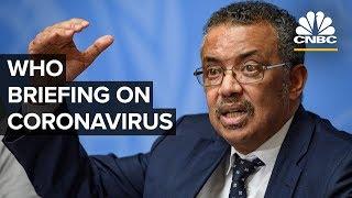 World Health Organization holds a news conference on coronavirus outbreak