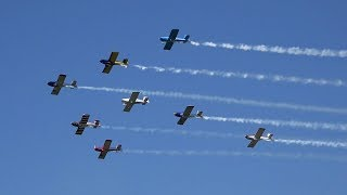 RV Aircraft Video - Vans RVs in Formation at the Corsicana Airshow