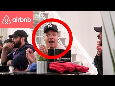 """FUNNY AIRBNB HOST PRANK - """"LEAVE OR IM CALLING THE COPS"""" 😂"""