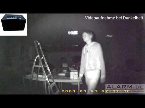 HD Radiowecker Überwachungskamera  mit integrierter Nachtsicht