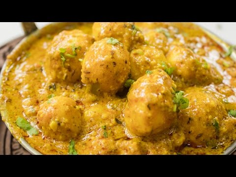 Shahi Aloo dum Recipe   Indian Restaurant Style Kashmiri Shahi Baby Potato Curry Recipes
