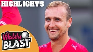 Livingstone Lights Up Leicester | Leics v Lancs | Vitality Blast 2018 - Highlights