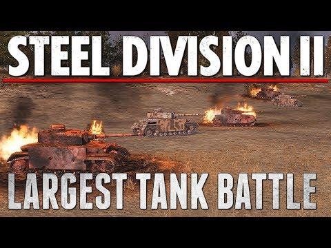 LARGEST ARMORED BATTLE  - Steel Division 2 - Multiplayer Gameplay [4V4]