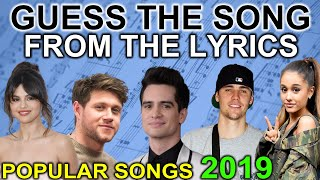 Who Said These Lyrics? POPULAR SONGS from 2019 | 20 Songs | Fun Quiz Questions