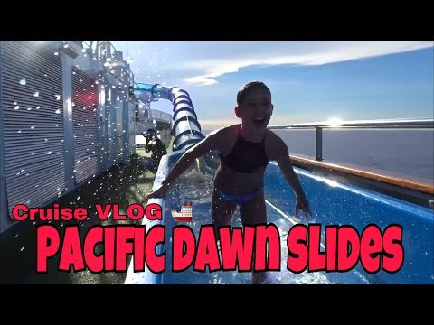 Cruise Vlog – NEVER VLOG AGAIN……..Review of the Pacific DAWN Waterslides on P and O Cruise Ship
