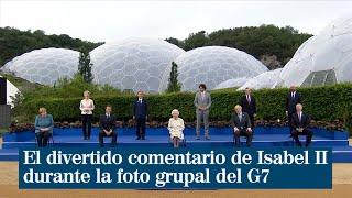 El divertido comentario de la Reina Isabel II durante la foto grupal de los líderes del G7