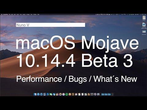 macOS Mojave 10.14.4 Beta 3 - What´s New / Performance