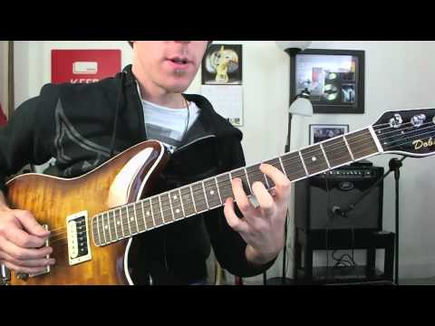 Drop D 9th Chords Electric Guitar Lesson - Tutorial Inspired By Foo Fighters, Linkin Park