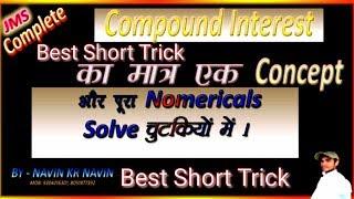 Compound Interest (2nd method )Maths trickly solution .SSC CGL LDC RLY NVS CAT MAT CMAT ............