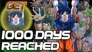 1000 DAYS REACHED! 100% LR Spirit Bomb Goku Dragon Ball Z Dokkan Battle