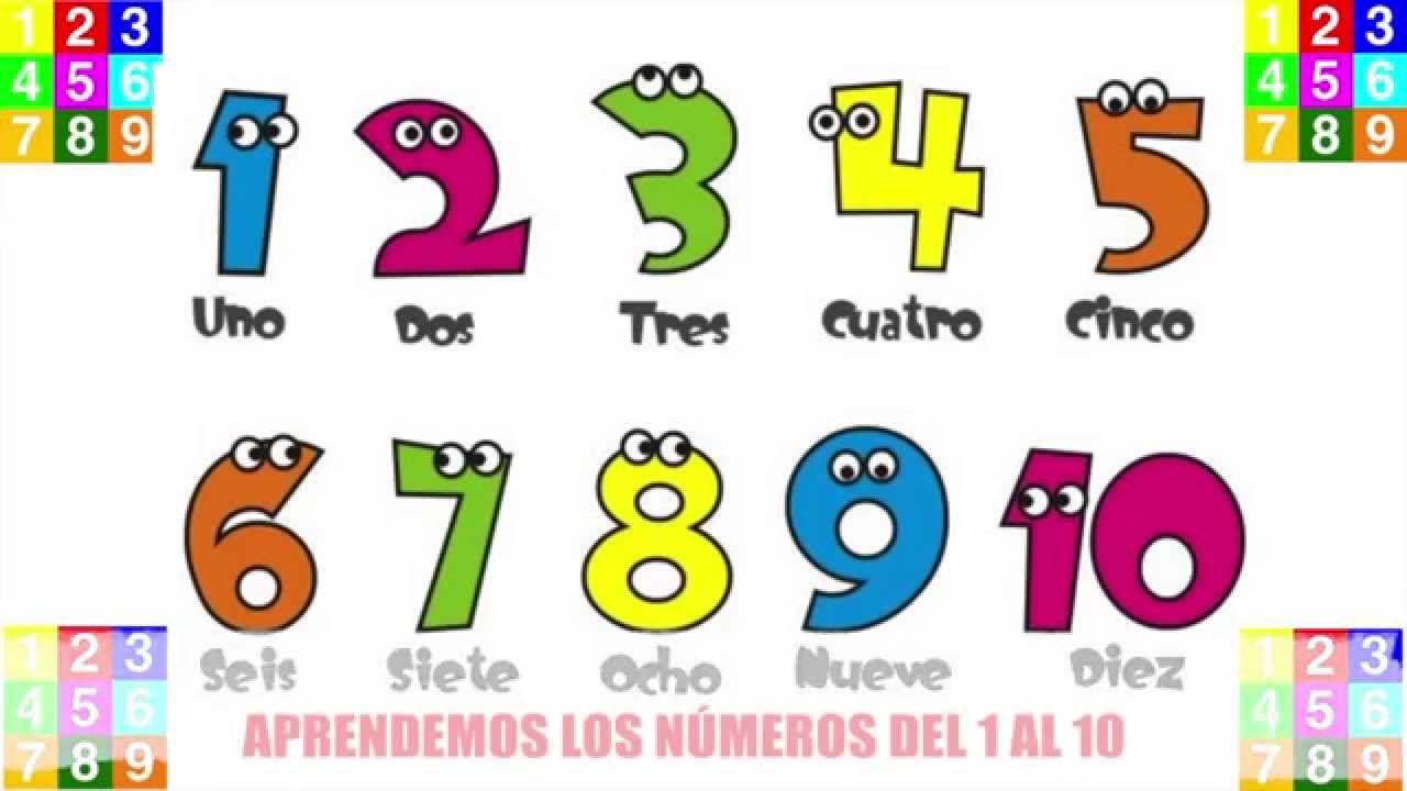 Los mas pequeños aprendemos los números del 1 al 10