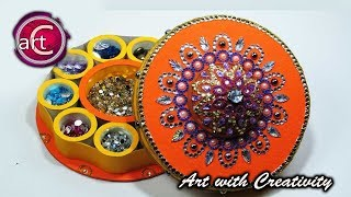 DIY Multi storage box   waste tape roll   best out of waste   Art with Creativity
