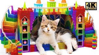 How To Make Amazing Kitten Cat Castle Bed From Magnetic Balls (Satisfying Videos)   MW Series
