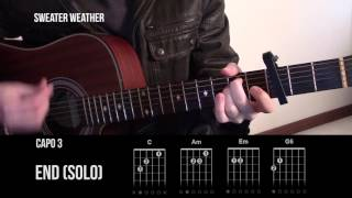Sweater Weather - The Neighbourhood - Guitar Lesson Tab (Tutorial) - How To Play