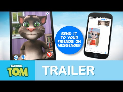 Talking Tom for Messenger wideo